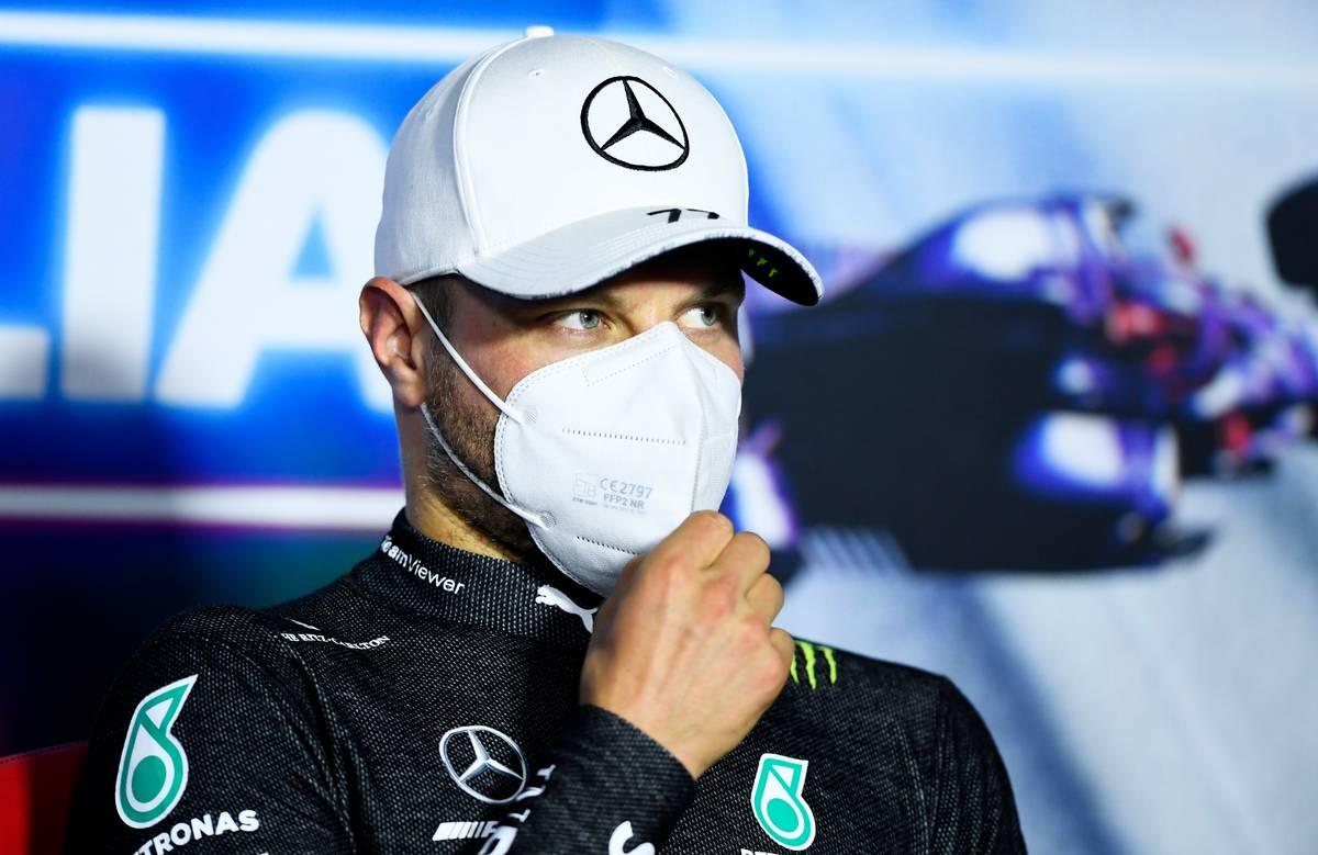 Valtteri Bottas (FIN) Mercedes AMG F1 in the post race FIA Press Conference. 12.09.2021. Formula 1 World Championship, Rd 14, Italian Grand Prix, Monza
