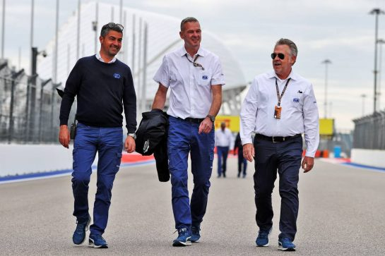 Michael Masi (AUS) FIA Race Director walks the circuit with others. 23.09.2021. Formula 1 World Championship, Rd 15, Russian Grand Prix, Sochi Autodrom, Sochi, Russia, Preparation Day. - www.xpbimages.com, EMail: requests@xpbimages.com © Copyright: Moy / XPB Images