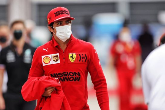 Carlos Sainz Jr (ESP) Ferrari. 24.09.2021. Formula 1 World Championship, Rd 15, Russian Grand Prix, Sochi Autodrom, Sochi, Russia, Practice Day. - www.xpbimages.com, EMail: requests@xpbimages.com © Copyright: Bearne / XPB Images