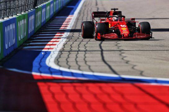 Charles Leclerc (MON) Ferrari SF-21. 24.09.2021. Formula 1 World Championship, Rd 15, Russian Grand Prix, Sochi Autodrom, Sochi, Russia, Practice Day. - www.xpbimages.com, EMail: requests@xpbimages.com © Copyright: Moy / XPB Images