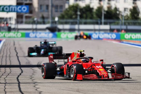 Carlos Sainz Jr (ESP) Ferrari SF-21. 24.09.2021. Formula 1 World Championship, Rd 15, Russian Grand Prix, Sochi Autodrom, Sochi, Russia, Practice Day. - www.xpbimages.com, EMail: requests@xpbimages.com © Copyright: Moy / XPB Images