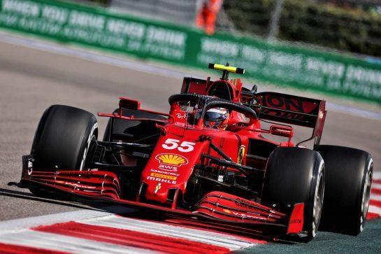 Carlos Sainz Jr (ESP) Ferrari SF-21. 24.09.2021. Formula 1 World Championship, Rd 15, Russian Grand Prix, Sochi Autodrom, Sochi, Russia, Practice Day. - www.xpbimages.com, EMail: requests@xpbimages.com © Copyright: Batchelor / XPB Images