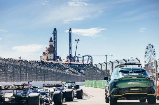 Sebastian Vettel (GER) Aston Martin F1 Team AMR21. 24.09.2021. Formula 1 World Championship, Rd 15, Russian Grand Prix, Sochi Autodrom, Sochi, Russia, Practice Day. - www.xpbimages.com, EMail: requests@xpbimages.com © Copyright: Bearne / XPB Images