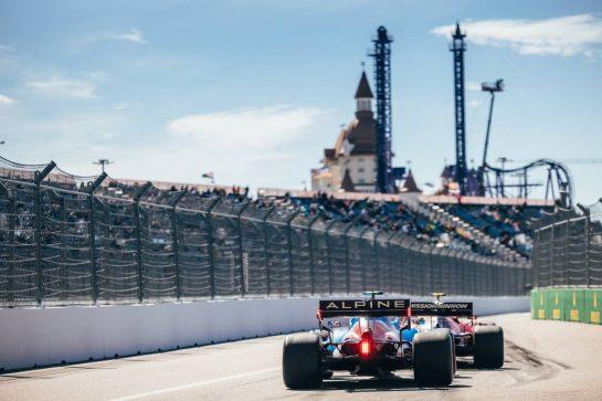 Esteban Ocon (FRA) Alpine F1 Team A521. 24.09.2021. Formula 1 World Championship, Rd 15, Russian Grand Prix, Sochi Autodrom, Sochi, Russia, Practice Day. - www.xpbimages.com, EMail: requests@xpbimages.com © Copyright: Bearne / XPB Images