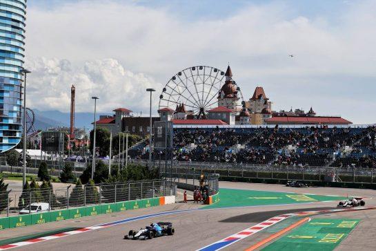 Nicholas Latifi (CDN) Williams Racing FW43B. 24.09.2021. Formula 1 World Championship, Rd 15, Russian Grand Prix, Sochi Autodrom, Sochi, Russia, Practice Day. - www.xpbimages.com, EMail: requests@xpbimages.com © Copyright: Moy / XPB Images
