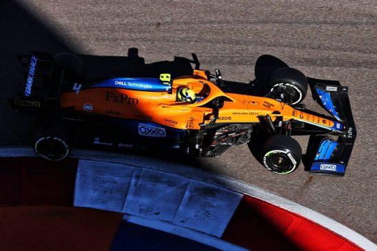 Lando Norris (GBR) McLaren MCL35M. 24.09.2021. Formula 1 World Championship, Rd 15, Russian Grand Prix, Sochi Autodrom, Sochi, Russia, Practice Day. - www.xpbimages.com, EMail: requests@xpbimages.com © Copyright: Batchelor / XPB Images