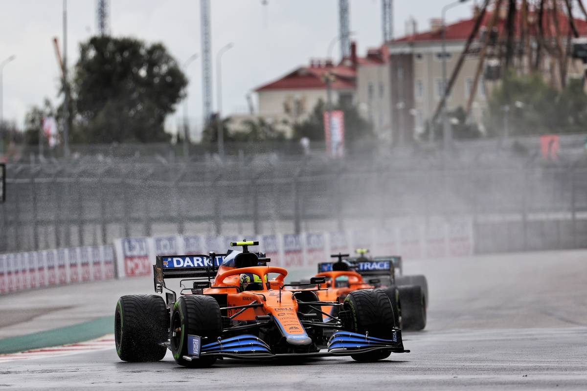 Lando Norris (GBR) McLaren MCL35M. 25.09.2021. Formula 1 World Championship, Rd 15, Russian Grand Prix, Sochi