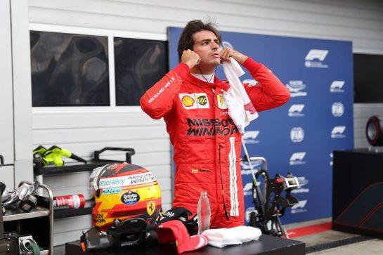 Carlos Sainz Jr (ESP) Ferrari SF-21.25.09.2021. Formula 1 World Championship, Rd 15, Russian Grand Prix, Sochi Autodrom, Sochi, Russia, Qualifying Day.- www.xpbimages.com, EMail: requests@xpbimages.com © Copyright: Batchelor / XPB Images