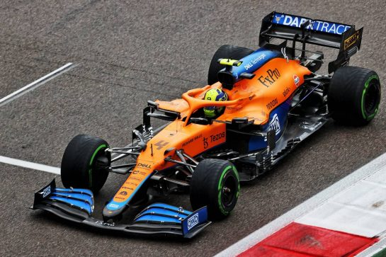 Lando Norris (GBR) McLaren MCL35M. 25.09.2021. Formula 1 World Championship, Rd 15, Russian Grand Prix, Sochi Autodrom, Sochi, Russia, Qualifying Day. - www.xpbimages.com, EMail: requests@xpbimages.com © Copyright: Moy / XPB Images