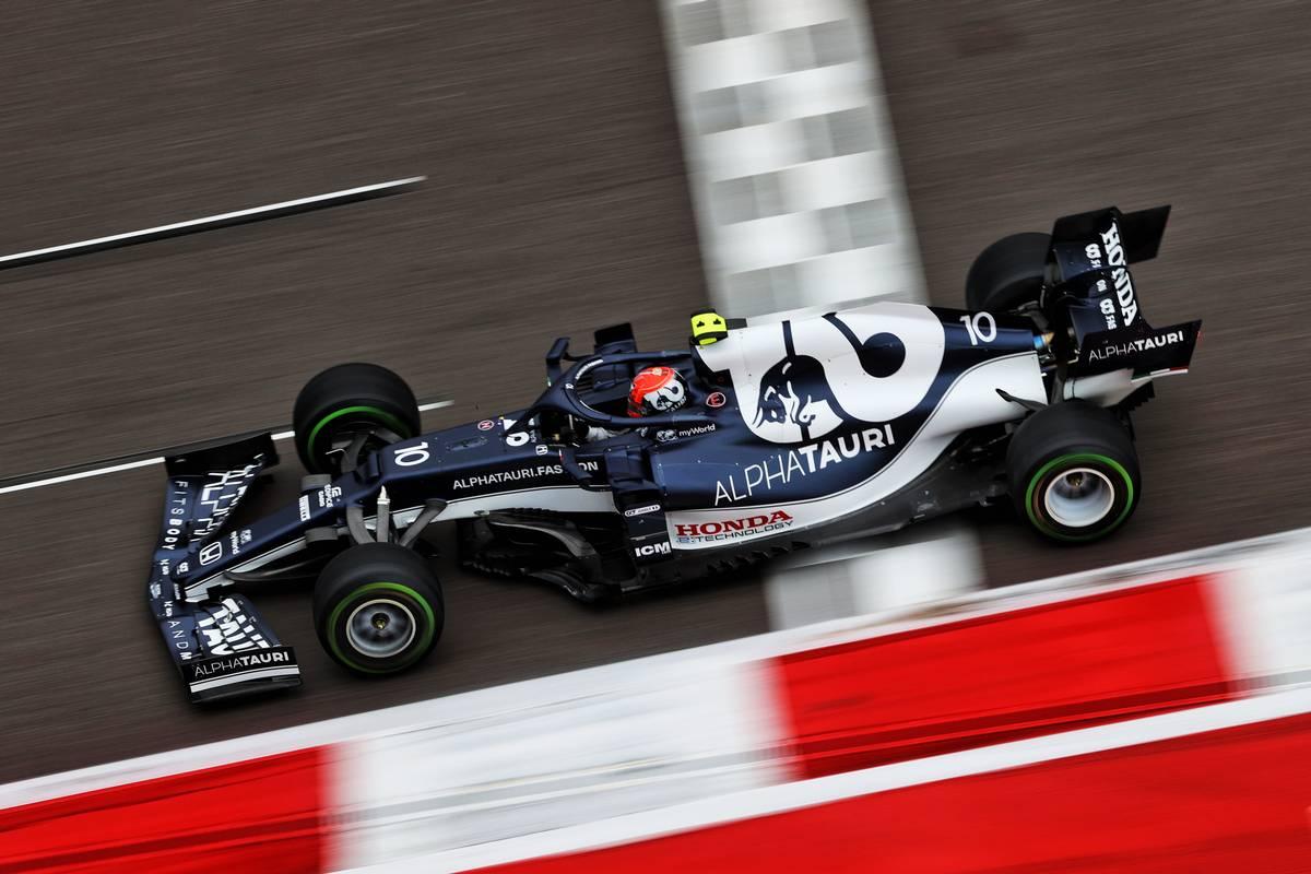 Pierre Gasly (FRA) AlphaTauri AT02. 25.09.2021. Formula 1 World Championship, Rd 15, Russian Grand Prix, Sochi