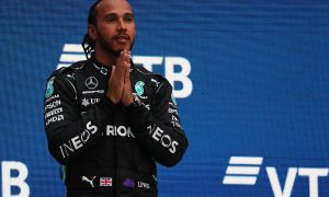 1st place Lewis Hamilton (GBR) Mercedes AMG F1 W12. 26.09.2021. Formula 1 World Championship, Rd 15, Russian Grand Prix, Sochi