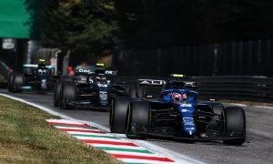 Ocon at odds with Monza penalty for 'racing action'