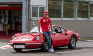 Sainz enjoys an outing with an oldie but a goldie