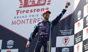 Grosjean snatches third IndyCar podium at Laguna Seca