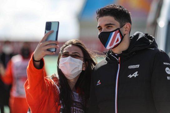 Esteban Ocon (FRA) Alpine F1 Team. 07.10.2021. Formula 1 World Championship, Rd 16, Turkish Grand Prix, Istanbul, Turkey, Preparation Day. - www.xpbimages.com, EMail: requests@xpbimages.com © Copyright: Charniaux / XPB Images