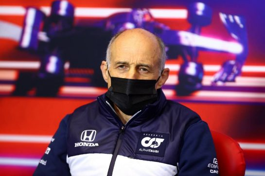 Franz Tost (AUT) AlphaTauri Team Principal in the FIA Press Conference. 08.10.2021 Formula 1 World Championship, Rd 16, Turkish Grand Prix, Istanbul, Turkey, Practice Day. - www.xpbimages.com, EMail: requests@xpbimages.com © Copyright: FIA Pool Image for Editorial Use Only
