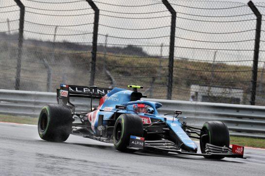 Esteban Ocon (FRA) Alpine F1 Team A521. 09.10.2021. Formula 1 World Championship, Rd 16, Turkish Grand Prix, Istanbul, Turkey, Qualifying Day. - www.xpbimages.com, EMail: requests@xpbimages.com © Copyright: Batchelor / XPB Images