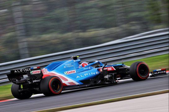 Esteban Ocon (FRA) Alpine F1 Team A521. 09.10.2021. Formula 1 World Championship, Rd 16, Turkish Grand Prix, Istanbul, Turkey, Qualifying Day. - www.xpbimages.com, EMail: requests@xpbimages.com © Copyright: Moy / XPB Images