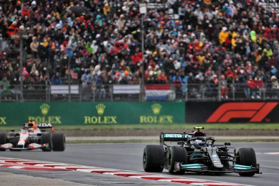 Valtteri Bottas (FIN) Mercedes AMG F1 W12. 10.10.2021. Formula 1 World Championship, Rd 16, Turkish Grand Prix, Istanbul, Turkey, Race Day. - www.xpbimages.com, EMail: requests@xpbimages.com © Copyright: Batchelor / XPB Images