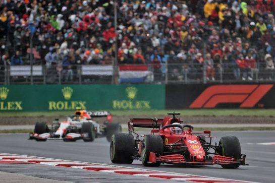 Charles Leclerc (MON) Ferrari SF-21. 10.10.2021. Formula 1 World Championship, Rd 16, Turkish Grand Prix, Istanbul, Turkey, Race Day. - www.xpbimages.com, EMail: requests@xpbimages.com © Copyright: Batchelor / XPB Images
