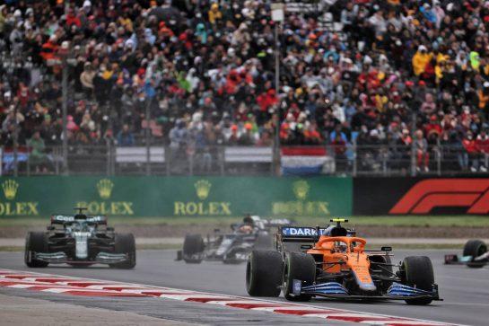 Lando Norris (GBR) McLaren MCL35M. 10.10.2021. Formula 1 World Championship, Rd 16, Turkish Grand Prix, Istanbul, Turkey, Race Day. - www.xpbimages.com, EMail: requests@xpbimages.com © Copyright: Batchelor / XPB Images