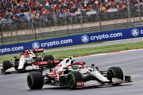 Antonio Giovinazzi (ITA) Alfa Romeo Racing C41. 10.10.2021. Formula 1 World Championship, Rd 16, Turkish Grand Prix, Istanbul, Turkey, Race Day. - www.xpbimages.com, EMail: requests@xpbimages.com © Copyright: Batchelor / XPB Images
