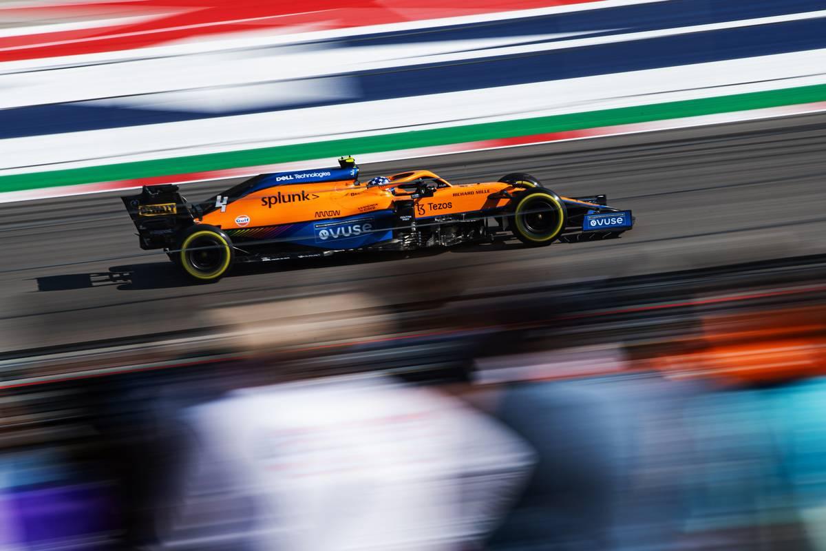 Lando Norris (GBR) McLaren MCL35M. 22.10.2021. Formula 1 World Championship, Rd 17, United States Grand Prix, Austin