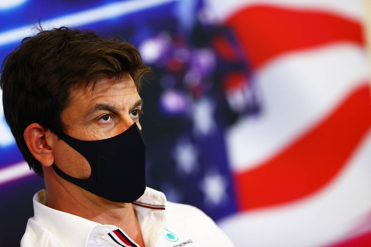 Toto Wolff (GER) Mercedes AMG F1 Shareholder and Executive Director in the FIA Press Conference. 22.10.2021. Formula 1 World Championship, Rd 17, United States Grand Prix, Austin