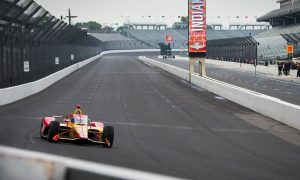 Grosjean gets rolling at the Brickyard with Andretti